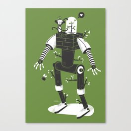 La herbe ex machina Canvas Print