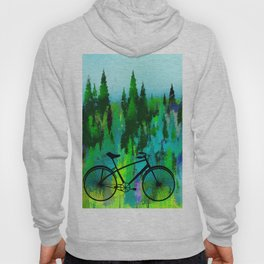 Biking in the Forest Hoody
