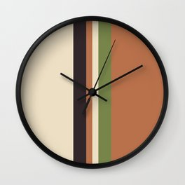 color block stripe Wall Clock