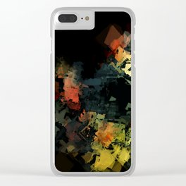 Aggregate Bloom Abstract 3 Clear iPhone Case