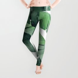 Tropical Island Leaves Pair Leggings