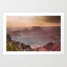 Grand Canyon Rainfall - South Rim Art Print