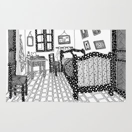 The bedroom. Van Gogh 1888 Rug