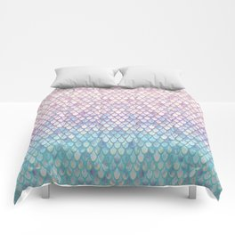 Spring Mermaid Scales Comforters