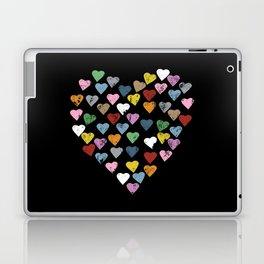 Distressed Hearts Heart Black Laptop & iPad Skin