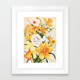 Wordsworth  and the daffodils. Framed Art Print