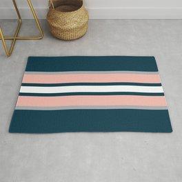 Colorful retro stripes Rug