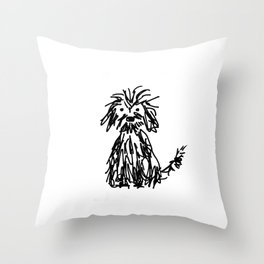 Doggy day Throw Pillow