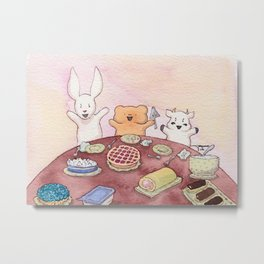 The Best Ber Treat Table and Friends Metal Print