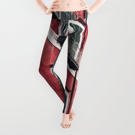 Red Background 03 Leggings