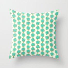 Flower Stripes Throw Pillow