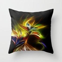 Night Bloom Digital Throw Pillow