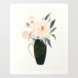 The Emperor's Peonies Art Print