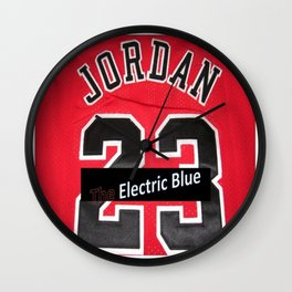 Electric Blue I'm Jordan Wall Clock