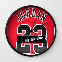 Electric Blue I'm Jordan Wall Clock