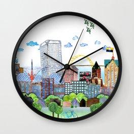 Milwaukee Watercolor Wall Clock