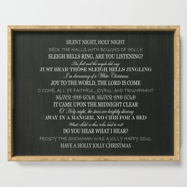 Christmas Songs Serving Tray