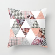 Pink Patterns Throw Pillow