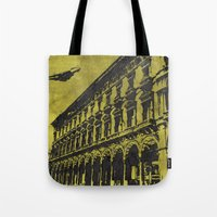 milan Tote Bags featuring Milan 1 by Anand Brai