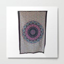 Hippie Indian Star Tapestry Wall Hanging  Metal Print
