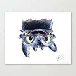 Toothless (Upside Down) Canvas Print