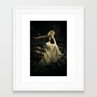 noir Framed Art Prints featuring Noir by Reagan Lam