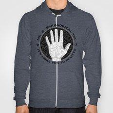 Me & Paranormal You - James Roper Design - Palmistry B&W (black lettering) Hoody
