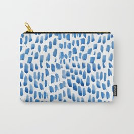 Indigo Droplets Pattern Carry-All Pouch