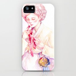 Year of the Rooster - Zodiac & Hanbok iPhone Case
