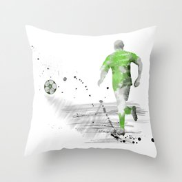 Soccer Player 5 Throw Pillow