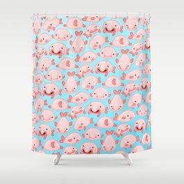 Blobfish Pattern Shower Curtain