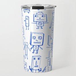 Robot Crowd Travel Mug
