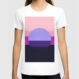 Mod Circle Abstract Pink Purple Periwinkle Blue T-shirt