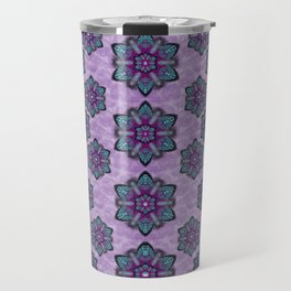 a gift with flowers stars and bubble wrap Travel Mug