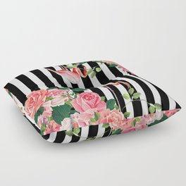 tropical flamingo Floor Pillow