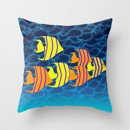 Tropical Fish Digital Art Throw Pillow