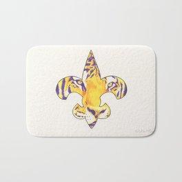 Fleur De Lis LSU Tiger Bath Mat