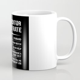 Video Editor Hourly Rate   Funny Gift Coffee Mug