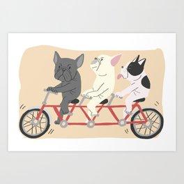 tandem bike Art Print