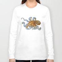 octopus Long Sleeve T-shirts featuring Octopus by Tim Jeffs Art