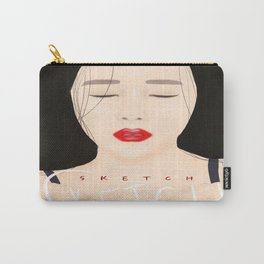 """Hyomin """"Sketch"""" Album Cover (Fanart) Carry-All Pouch"""