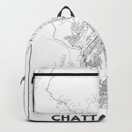 Minimal City Maps - Map Of Chattanooga, Tennessee, United States Backpack