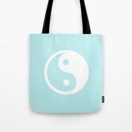 Turquoise Aqua Blue Harmony Yin Yang Tote Bag