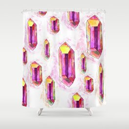Pink Crystals Shower Curtain
