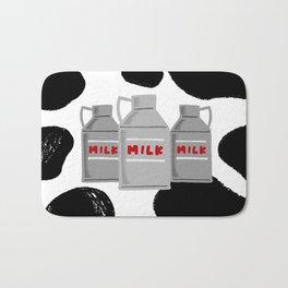 caw milk cute pattern Bath Mat
