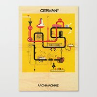 germany Canvas Prints featuring Germany by federico babina
