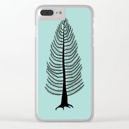 West Coast Cedar Tree Clear iPhone Case