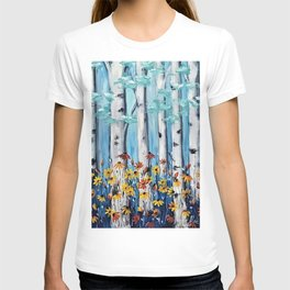 Aspen trees and Daisies T-shirt