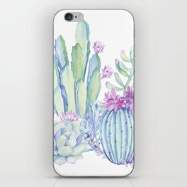 Mixed Cacti White #society6 #buyart iPhone Skin