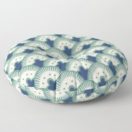 Fan Pattern Blue/Green Floor Pillow